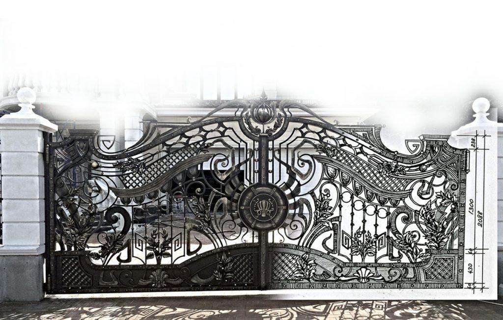 Кованые мангалы Кованый мангал с козырьком Арт. МА-014 Norkovka