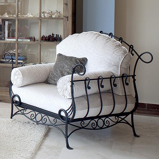 Кованая мебель Кованое кресло чёрного цвета Арт. М-012 Norkovka