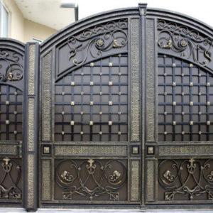 Кованые ворота Металлические кованые ворота Ричард Арт. В-003 Norkovka