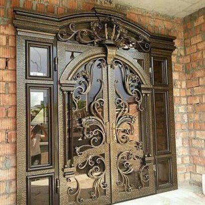 Кованые двери Двойная кованая дверь Арт. Д-003 Norkovka