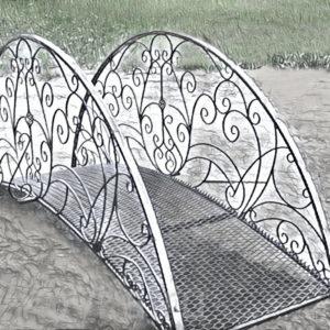 Кованые мосты Полукруглый кованый мостик Арт. МО-005 Norkovka