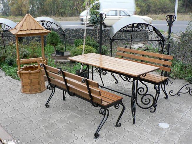 Кованая мебель Мебель для сада с кованым основанием Арт. М-001 Norkovka