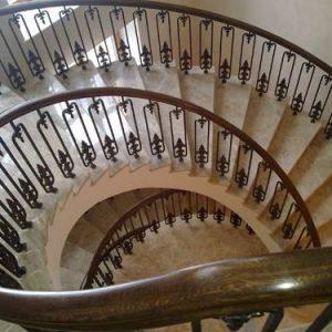 Кованые лестницы Кованая винтовая лестница Барбара Арт. Л-015 Norkovka
