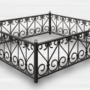Кованые оградки Ритуальная кованая ограда на могилку Арт 10 Norkovka